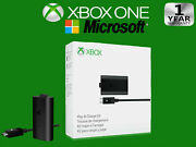 New Official Microsoft Xbox One Play And Charge Kit Original Oem + Cable