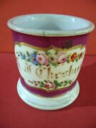Shaving Mugs Occupational,old Paris Made France.hand Painted Pink And Multicolor