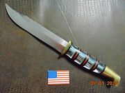 Beautiful Lucite Handle Ww Ii Pacific Theater Knife And Sheath In Great Condition