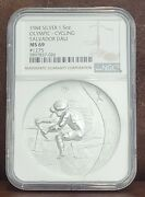 1984 Ngc Ms 69 1275 United States 1.5oz Silver Olympic-cycling Salvador Dali