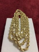 Yellow Gold 14kt Solid / Heavy 26.4 Grams Rope Chain 26 Inches Lobster Lock 3mm