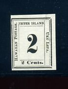 Hawaii Scott 24 Numeral Issue Unused Laid Paper Stamp With Pf Cert H24-11