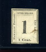 Hawaii Scott 23 Numeral Issue Laid Paper Used Stamp Stock H23-21