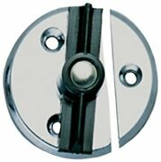 Replacement Chrome Door Latch Button With Tension Spring Marine Boat Cabinet Use