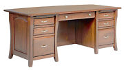Amish Executive Computer Desk Home Office Furniture Solid Wood File New