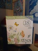 Brand New Lenox Butterfly Meadow 18 Piece Set + 2 Free Mugs Never Been Opened