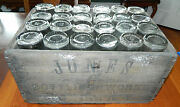 Wood Crate Of 24 Vintage Johnnie Collins And Jones Soda Bottles 1920's Fonda, Ny