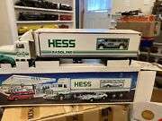 1992 Hess Truck 18 Wheeler And Racer Car New In Box L01 Never Played With Toy