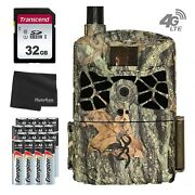 Browning Wireless Cellular 4g 20mp Trail Cam - Atandt + Sd Card And 16 Batteries