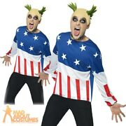 90s Fire Starter Costume Prodigy Keith Flint Mens Fancy Dress Party Outfit