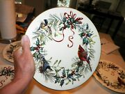 Lenox Winter Greetings Dinner Plates Set Of Six Birds And Bows 10 3/4 Millenium
