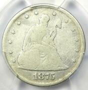 1875-p Twenty Cent Coin 20c - Certified Pcgs Vg Details - Rare Date 1875 Coin