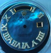 Dial For Rolex President Non Quick 36mm Genuine Roman Diamond Dial For Watch