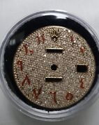Rolex Datejust Pave Diamond Dial Red Arabic Marker Fits 36mm Quick Set Watch