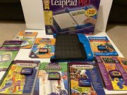 Leapfrog Leappad Pro Interactive Learning System W/10 Books 6 Cartridges+case