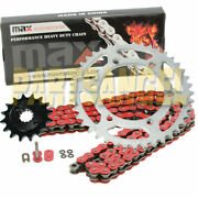 Red O-ring Drive Chain And Sprocket Kit For Kawasaki Klx450 R Kx450 F 2006-2018