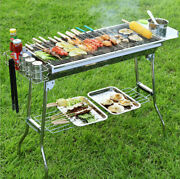 Outdoor Foldable Stainless Steel Barbecue Grill Portable Charcoal Bbq Stove