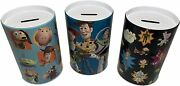 Set Of 3 Toy Story Saving Banks For Kids. Coin Collecting And Money Saving