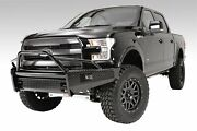 Fab Fours For 2009-2014 Ford F-150 Black Steel Front Ranch Bumper - Ff09-k1962-1