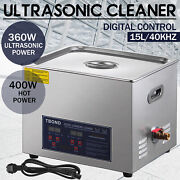 15l Ultrasonic Cleaner Stainless Steel Industry Heated Heater W/timer