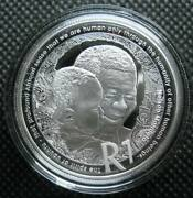 South Africa R1 2019 Silver Proof Coin Protea Series Nelson Mandela With Coa