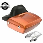 Amber Whiskey King Tour Pack Pak For Harley Street Road Electra Glide 97+