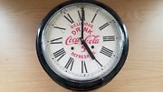 Vintage Coca-cola Wall Clock By The E. Ingraham Co Loose Part Untested Read