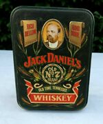 Vintage Jack Daniels Old No 7 Whiskey Tin Hinged Box With Insert Free Shipping