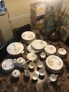 Kahla German Democratic Republic Service For 12 Bird And Flowers China Set
