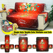 1/2/3-4 Seat Washable Sofa Cover Couch Mat Slipcovers Furniture Christmas Decor