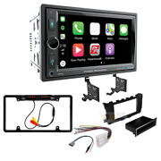 Double Din Car Stereo Apple Carplay Bluetooth Receiver For 2013-17 Nissan Altima