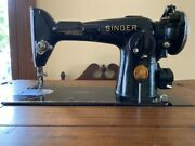 Singer Sewing Machine In Cabinet - 1938 Vintage - Fair To Good Condition