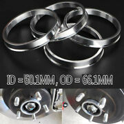 For Toyota Nissan 5x114.3 66.1mm Wheel To 60.1mm Hub Centric Rim Spacer Ring X4
