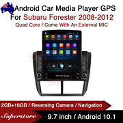 9.7andrdquo Android 10.1 Car Stereo Non Dvd Gps Usb Head Unit For Subaru Forester 08-12