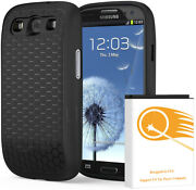 7500mah Extended Battery Cover Tpu Case F Samsung Galaxy S Iii Boost Mobile/ting