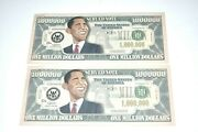 Obama Funny Money Two Bills With Sleeve