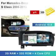 Android 10 Car Gps Stereo Radio For Mercedes Benz S W221 S300 S350 S400 Cl W216