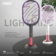 Electric Mosquito Swatter Mosquito Killer Lamp Usb Rechargeable Fly Bug Zapper