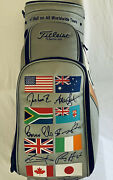 Rare Titleist World Flag Limited Edition Golf Bag 1514 Of 2500. Mint Condition.