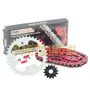 Red Drive Chain And Sprocket Kit For 2003 2004 Polaris Predator 500 14/37 94l