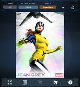 Topps Marvel Collect - X-icons Jean Grey Rainbow Refractor Motion Digital