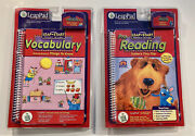 Leap Pad Learning System By Leap Frog Lot Of 2 Book And Cartridges Vocabulary