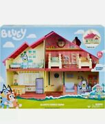 Bluey Blue Heeler Dog Bluey's Family Home House Playset Figure Pack And Go -new-
