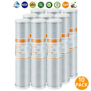 10 Pack 20x4.5 Whole House Cto Carbon Block Water Filter For Big Blue Housing