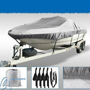 Boat Cover 14-16 Ft 3 Layers Heavy Duty Fabric W/cotton Lining Waterproof 90 Us