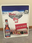 Coors Light Beer Letand039s Go Red Plastic Lighted Sign