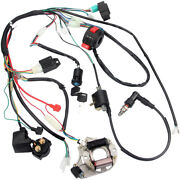Electric Wiring Harness Wire Loom Cdi Stator Kit For 50 70 90 110 125cc Atv Quad
