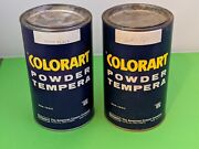 Vintage Colorart Dried Tempera Powder Paint Black And White American Crayon Co.