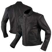 Mens Motorcycle Jackets Black Leather Racer Sports Banned Collar Casual Zipper