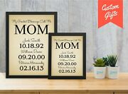 Personalized Mother's Day Gifts For Mom - Custom Birthday Gifts For Mother Print